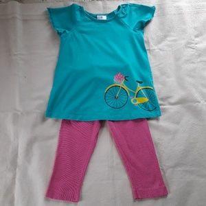 Hanna Anderssson top % leggings size 6-7